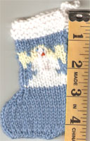 Hand Knit Mini Stocking-Angel