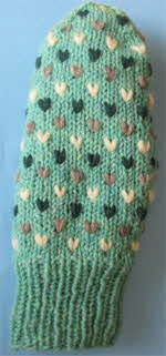 thrum-mitts-light-green-brown-heather-white