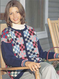 hand knit country quilt cardigan free pattern