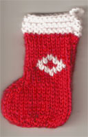 Hand Knit Mini Stocking-Diamond