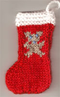 Hand Knit Mini Stocking-Gingerbread Man