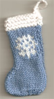 Hand Knit Mini  Stocking-Snowflake