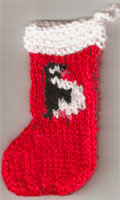 Hand Knit Mini Stocking-Penguin